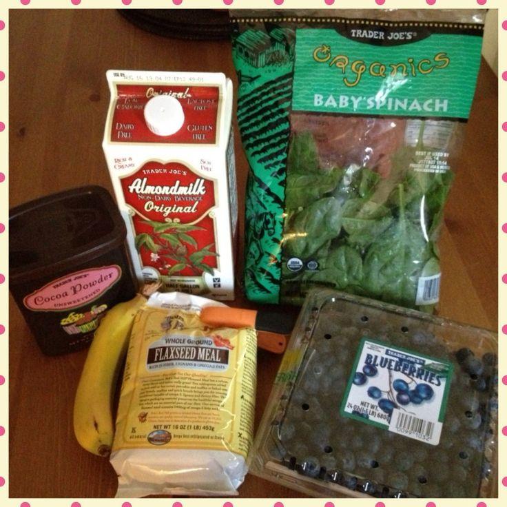 Ingredients for Healthy Chocolate Milkshake!