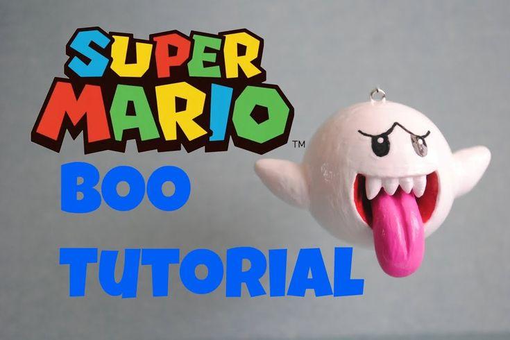 SUPER MARIO series: BOO Polymer Clay TUTORIAL- テレサ