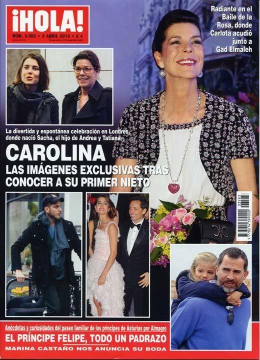 ¡HOLA! Nº 3583 - 03/04/13 #revistas #magazines #covers #portadas #hola #kiosco
