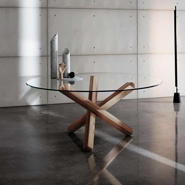 Populaire Les 25 meilleures idées de la catégorie Table ronde en bois sur  AB89