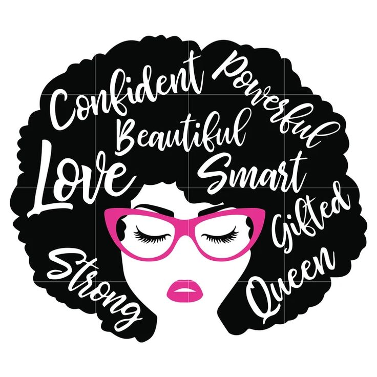 Black Woman with glasses Svg, Afro Woman Svg, African
