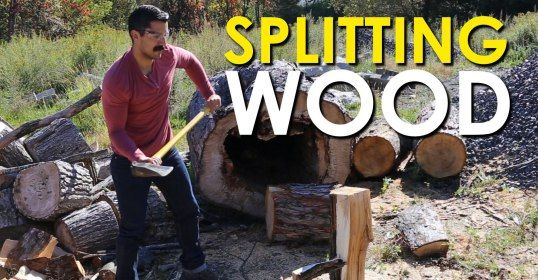 If you've got a fireplace or a wood burning stove, you'll need to start splitting wood so those logs will fit in your respective stove or fireplace.