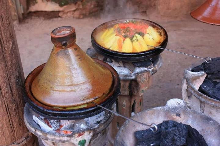 Charcoal fire is the best way to cook tajine tasty. #Morocco