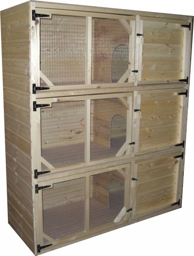 rabbit cages for sale | Buy Block of 3 Indoor Rabbit Hutches Online at HappyHutch.co.uk