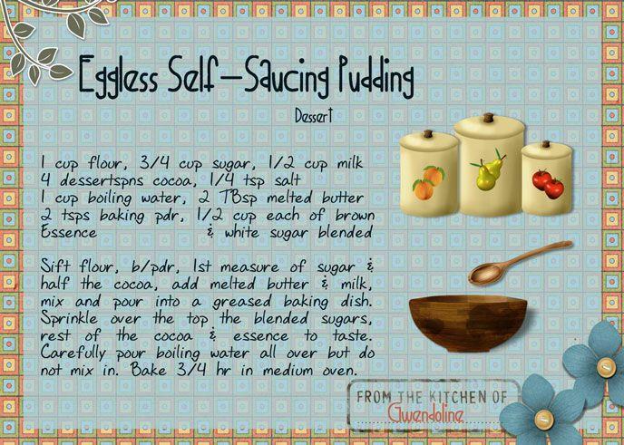 Eggless Self-Saucing Pudding