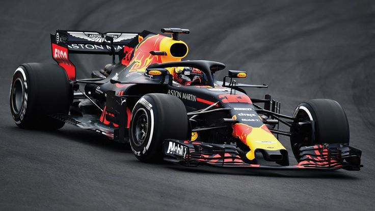 Max on track in the RB14 at Barcelona for winter testing