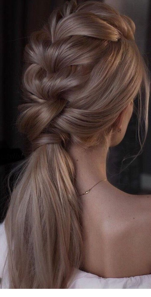 Nice blonde gold braid design