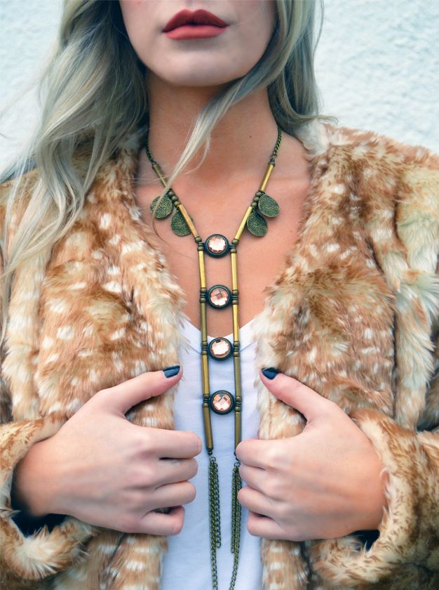 "The Stone File | www.thestonefile.com | Mink Pink ""Oh Deer"" Coat 