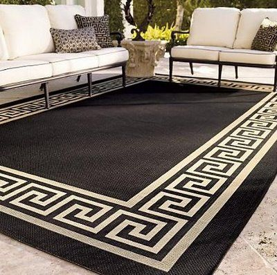 greek key outdoor carpet
