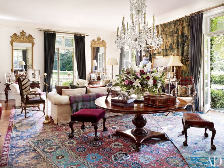 A Hooked Zebra Rug Once Owned By Decorator Albert Hadley Takes Pride Of Place In The