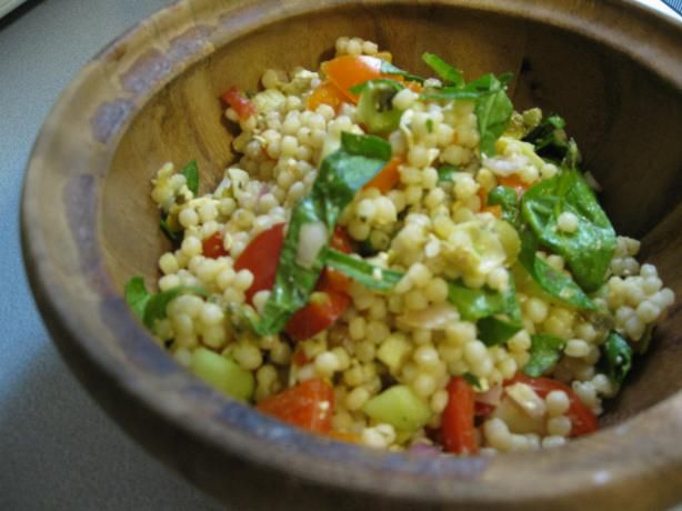 Salad With Israeli Couscous | Recipe | Salads, Couscous Salad and