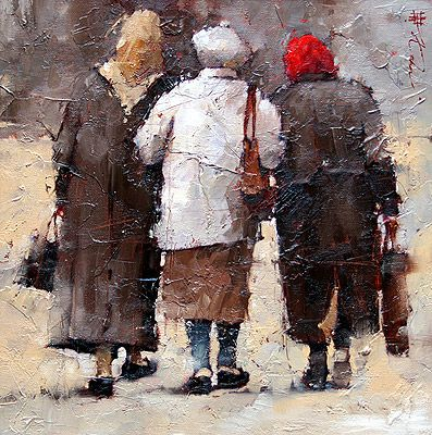"""""""To the Market"""", by Andre Kohn (Russian-American, b. 1972)"""