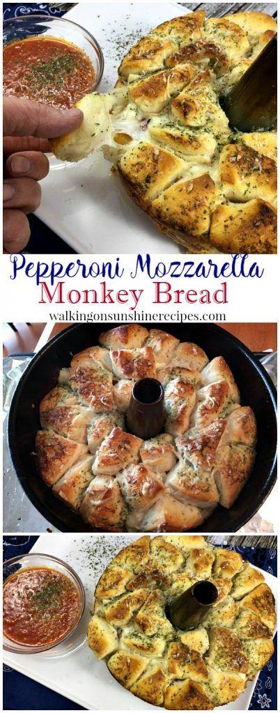 Recipe: Pepperoni Mozzarella Monkey Bread from Walking on Sunshine