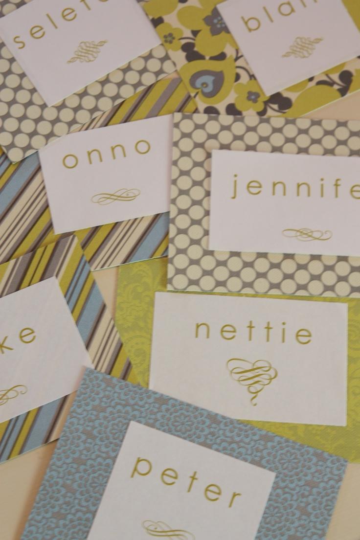 name tags for the door   naamstickers voor de deur