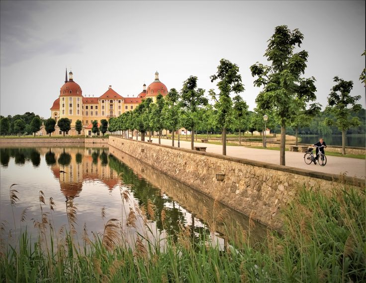 Reflection of Moritzburg castle, near Dresden, Germany