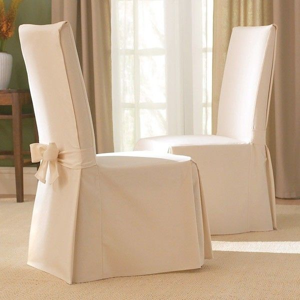 Add Elegant Style To Your Dining Room With This Classic Slipcover Featuring A Wide Range Of Colors These Covers Are Oversized Fit Chairs Up 19
