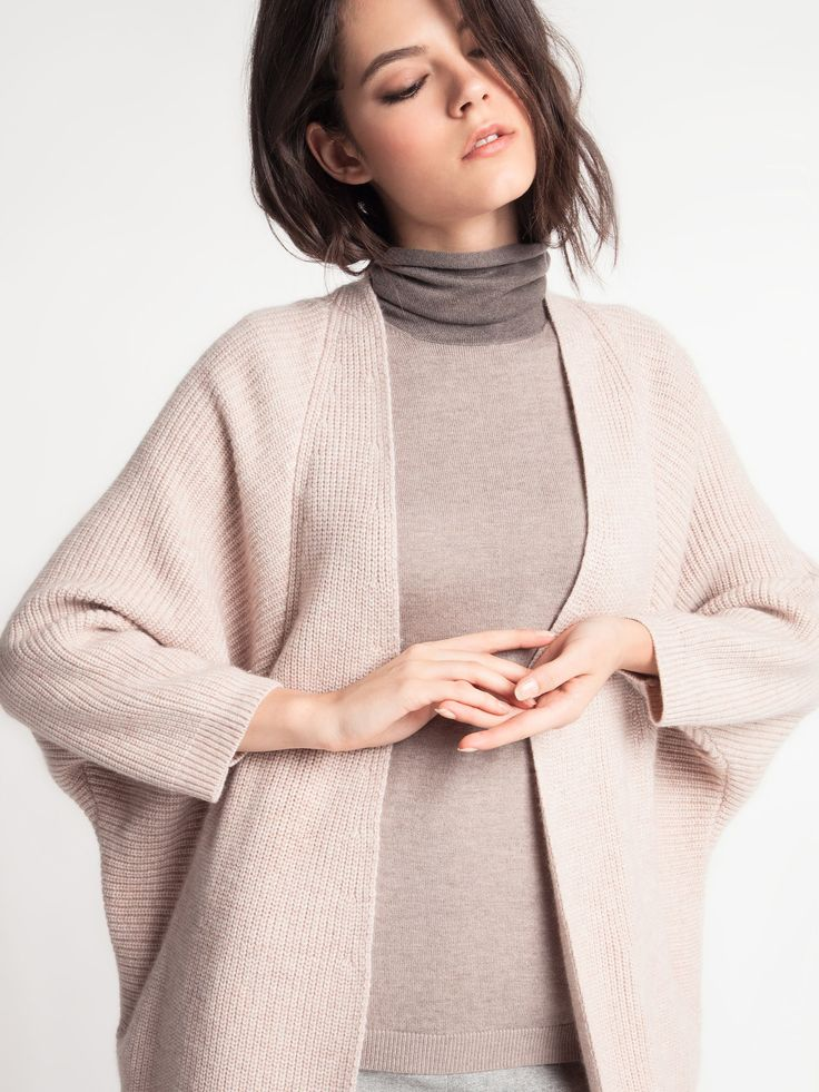 Женская коллекция.Удлиненный кардиган из шерсти, кашемира и ангоры с мягкой формой плеча и спущенной проймой. Laplandia For Women