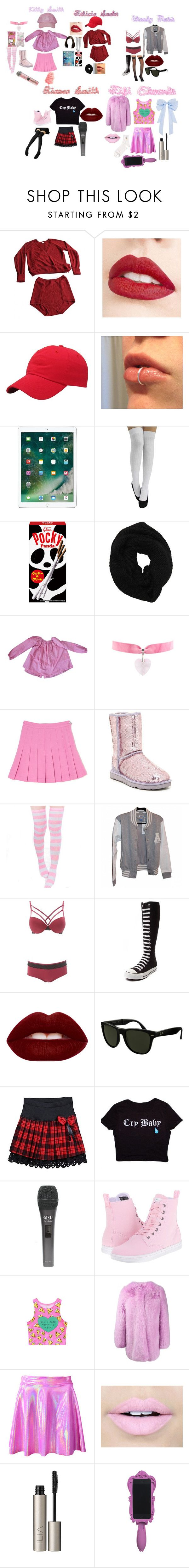"""""""L E T S  G O  G I R L S"""" by misskaya1012 ❤ liked on Polyvore featuring Eres, Jouer, Apple, Wyatt, Hello Kitty, UGG Australia, adidas, Charlotte Russe, Converse and Lime Crime"""