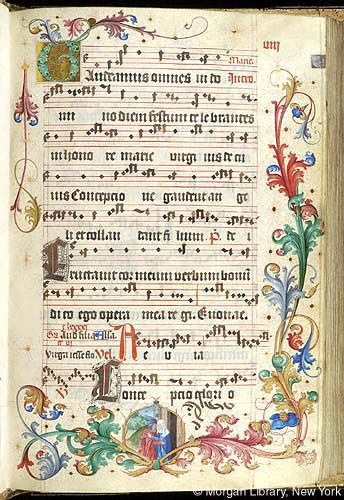 Gradual, MS M.905 II, fol. 8r - Images from Medieval and Renaissance Manuscripts - The Morgan Library & Museum