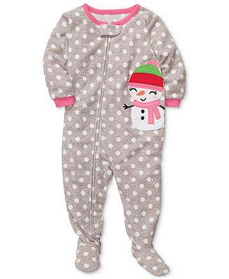 Carter's Baby Pajamas, Baby Girls Snowman Coverall