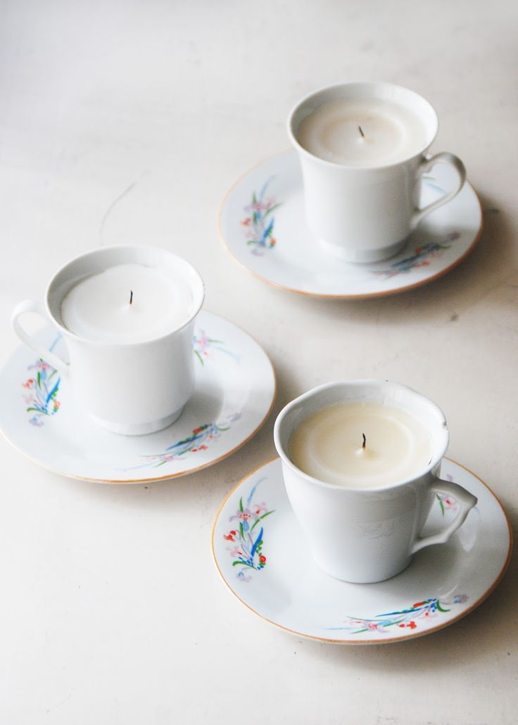 The Pink Doormat: Teacup Candles