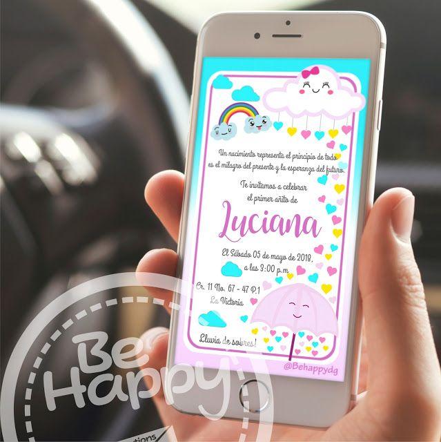 Be Happy Tarjeta De Invitación Digital Invitaciones