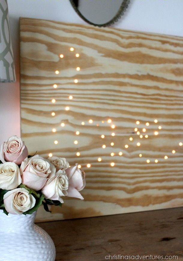 Create an inexpensive lighted love sign with a simple piece of plywood.