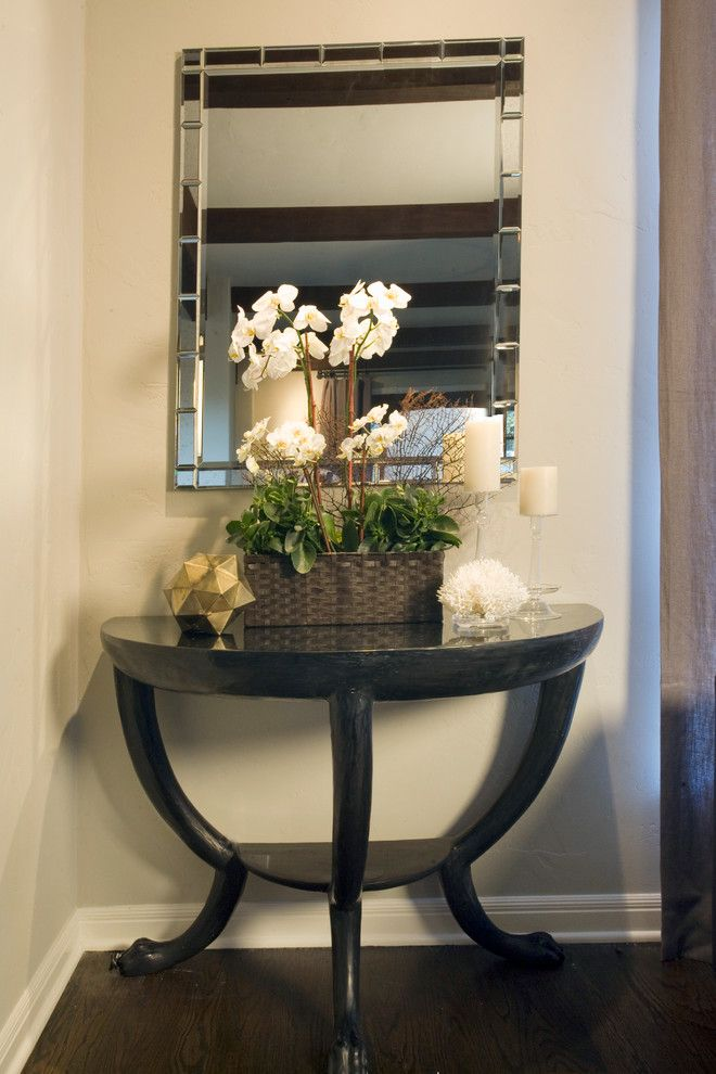 Awesome Half Moon Table Decorating Ideas Images in Spaces Transitional design ideas