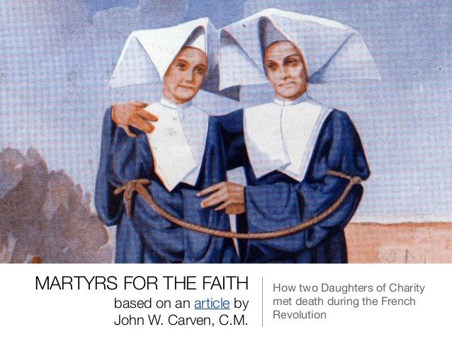 #VincentianSaints – February 1 – Daughters of Charity #Martyrs of Angers #FrenchRevolution