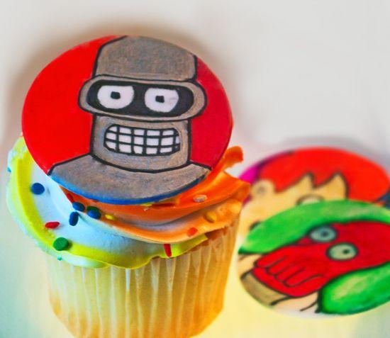Bender (the robot) Cupcake by duhlicious-dot-com, via Flickr