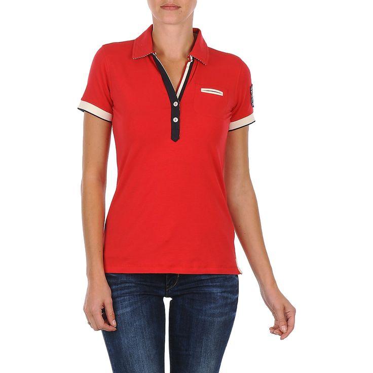 Hochwertiges #tshirt in #rot von #napapijri, jetzt im #sale auf @spartood. #damenmode