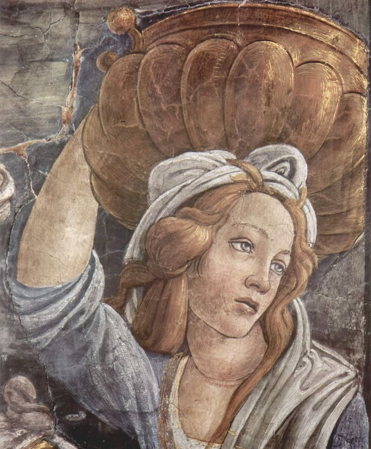SANDRO BOTTICELLI ( 1445 - 1510) |  Trials and Calling of Moses (detail). Fresco. Sistine Chapel, Rome.