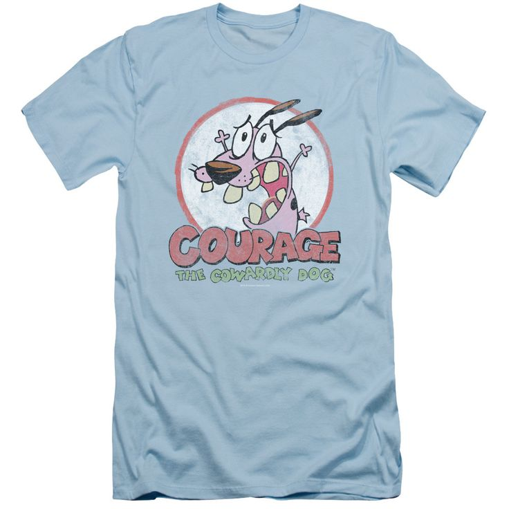 Courage The Cowardly Dog/Vintage Courage-Light Blue