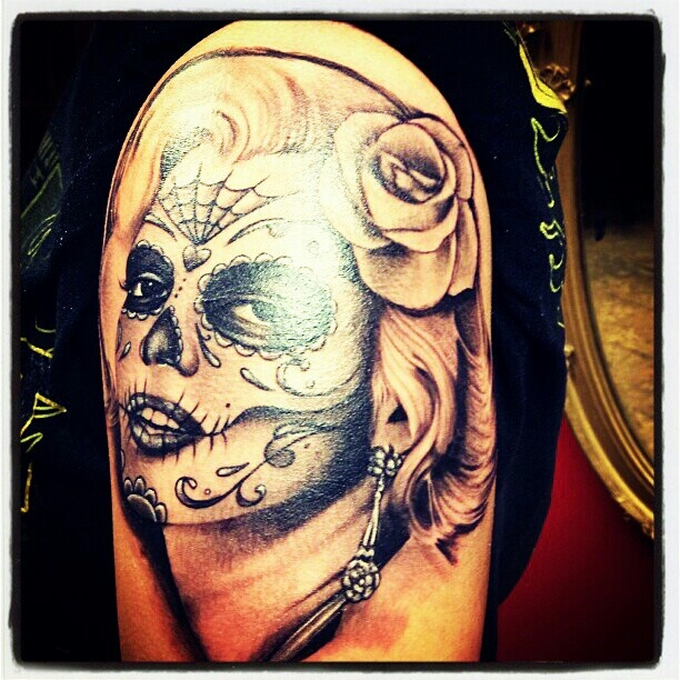 Best ideas about monroe sugar marilyn monroe and sugar for Marilyn monroe skull tattoos