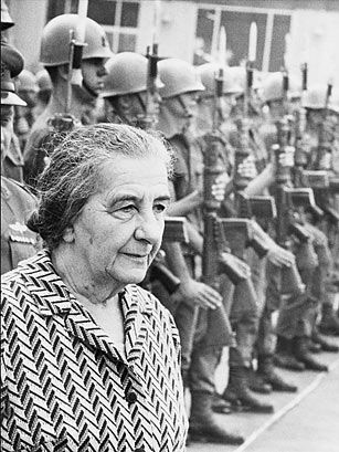 """Golda Mier Prime Minister of Isreal. An amazing and courageous woman...said once to be the """"only man in the cabinet."""""""