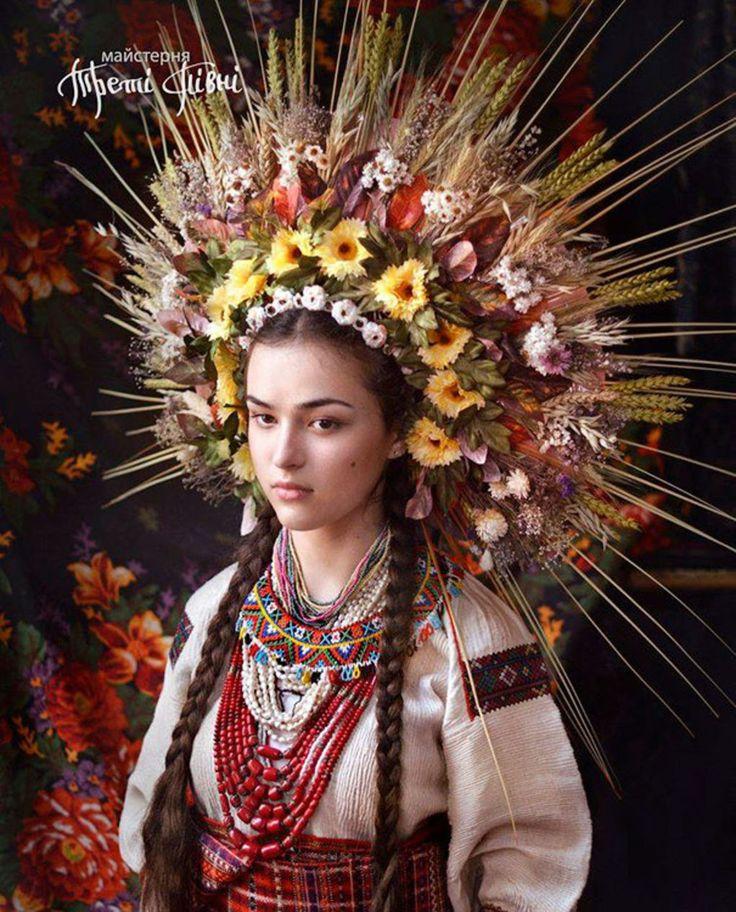 Traditional Ukrainian Crowns Modern Women Wearing