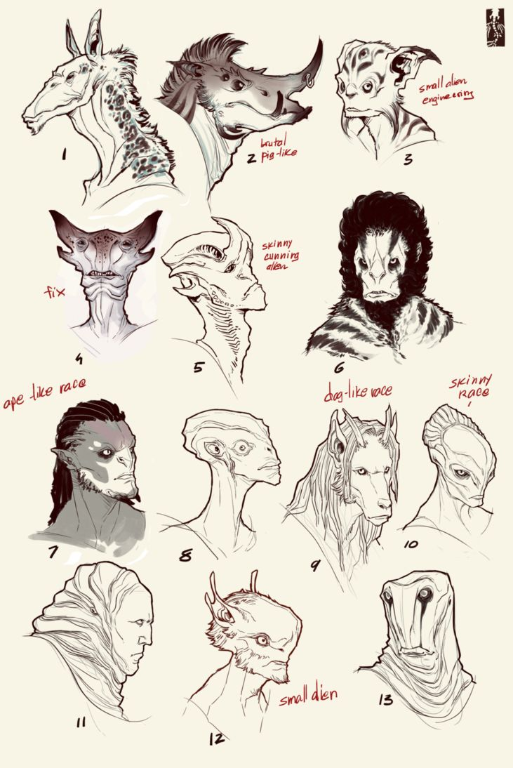 aliens head concept 2 [wanja90] by Zarnala on deviantART