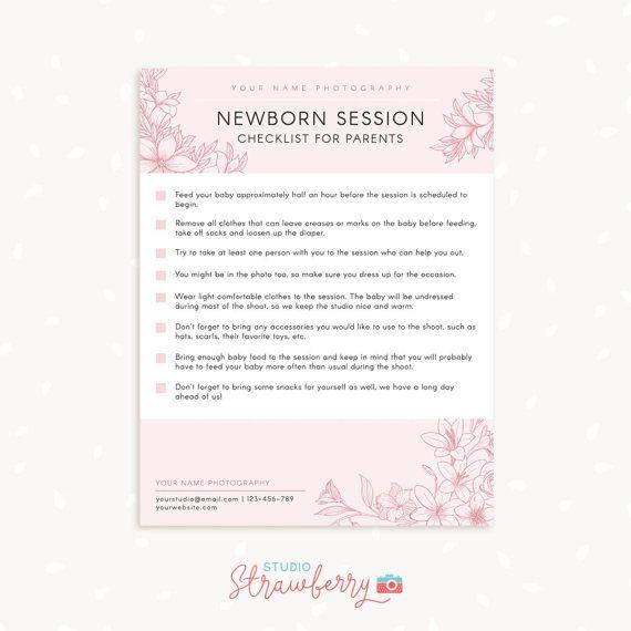 Newborn Photography Checklist for Parents Prep checklist