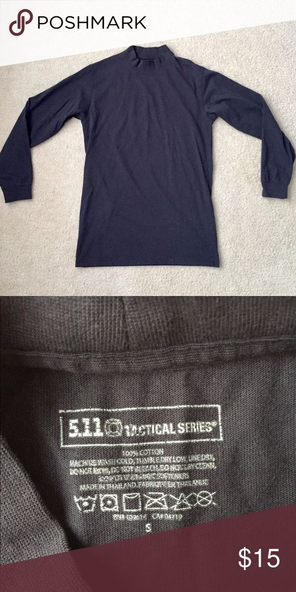 """5.11 Tactical Series High-Neck Shirt 5.11 Tactical Series tall-neck, long-sleeved, 100% cotton shirt. In great condition and perfect as an under-layer on cold days. Bundle for great savings!!!  Measurements: Shoulder: 17"""" Chest: 19"""" Length: 29"""" 5.11 Tactical Shirts Tees - Long Sleeve"""