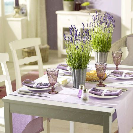 490 best images about lavender the herb on pinterest english herbs and lavender oil - Tischdeko mit lavendel ...