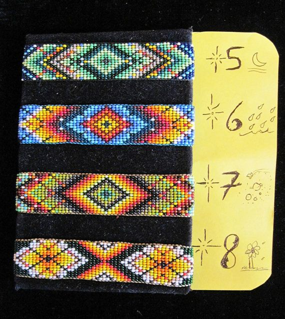 American Indian Bead Loom Patterns | Native American Huichol NEW Original Designs Beaded Bracelet - Your ...