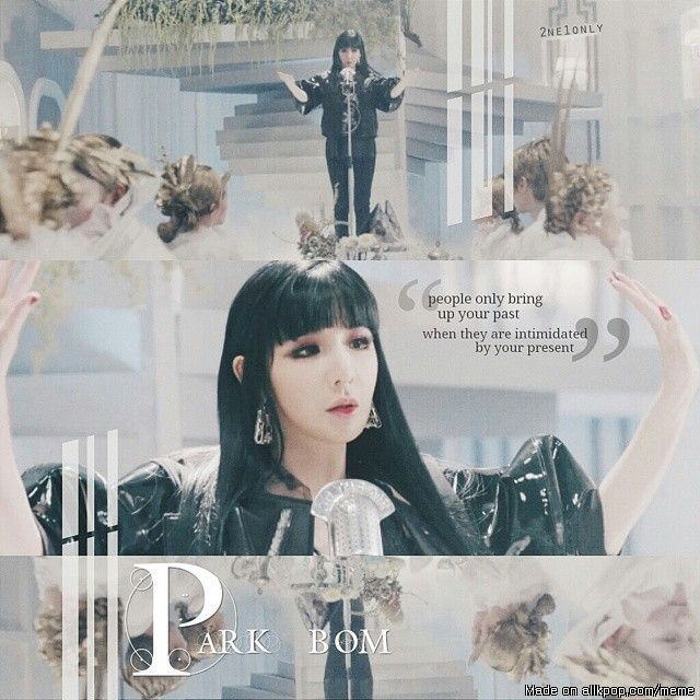 i just love the quote! - we miss park bom!! | allkpop Meme Center