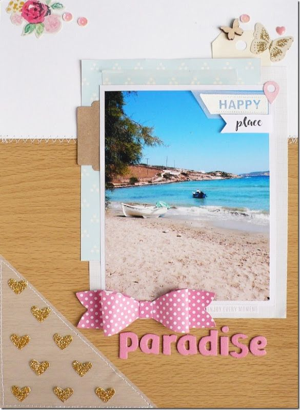 scrapbook layout, scrapbooking, A4, summer, travel, crate paper