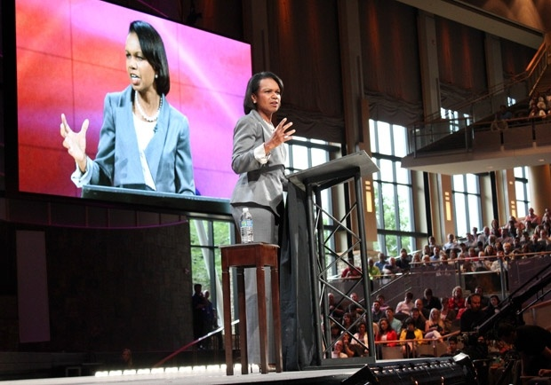 Women speakers at Willow Creek's Leadership Summit. Love that church!