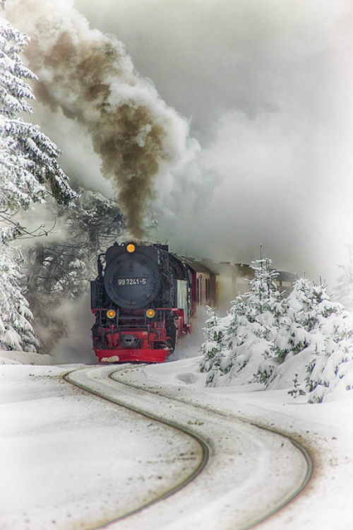 Harz Steam Train. Saxony-Anhalt, Germany. A beautiful train surrounded by beautiful scenery!