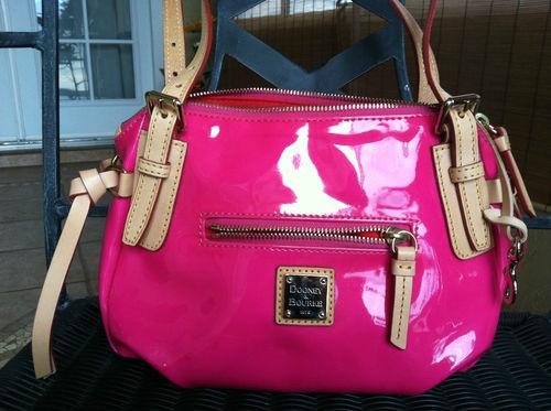 Dooney Bourke Pink Patent Leather Handbag Purse Like New | eBay ...