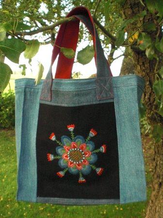 mönster+yllebroderier   Sticka - på landet: Väska med broderi