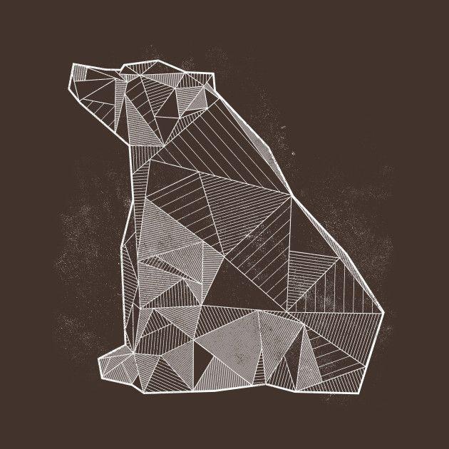 Awesome 'Geometric+Nature+-+Bear' design on TeePublic!