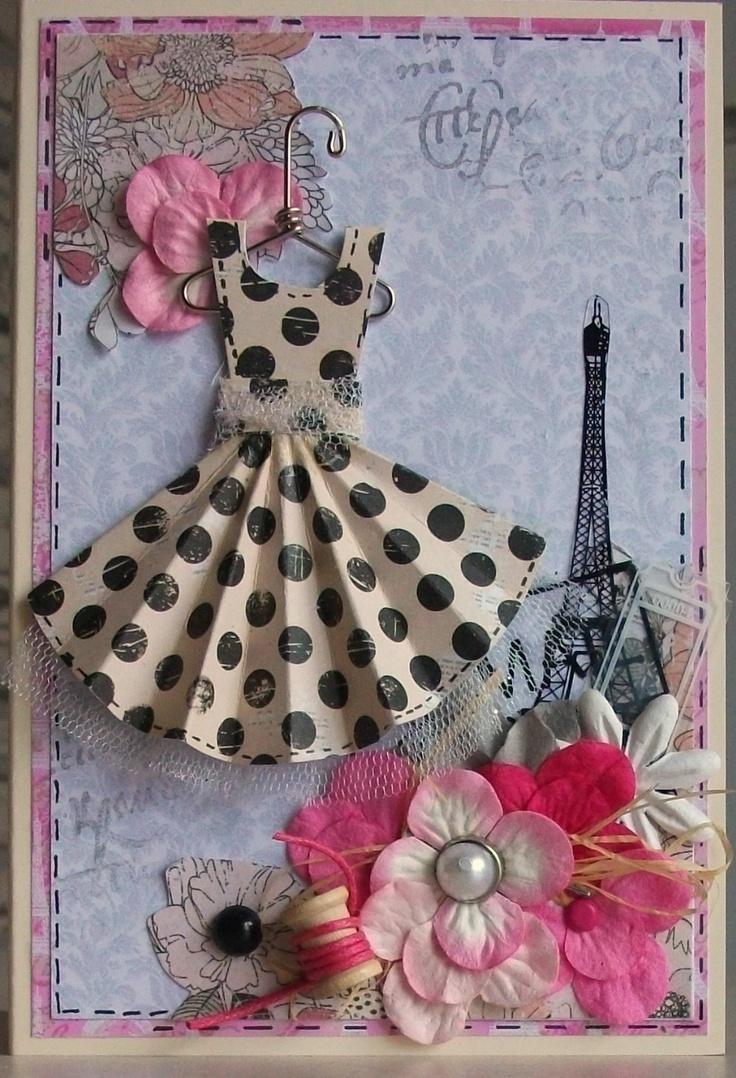 стоит как сделать открытку с платьем своими руками мастер класс собраны
