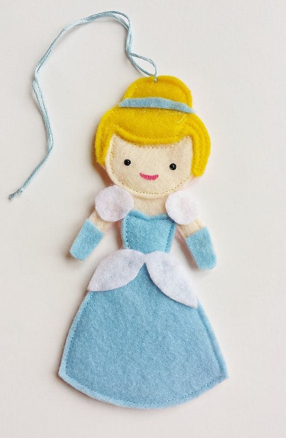 Cinderella Disney Princess Felt Air Freshener / Christmas Ornament / Felt Doll / Essential Oils Air Freshener